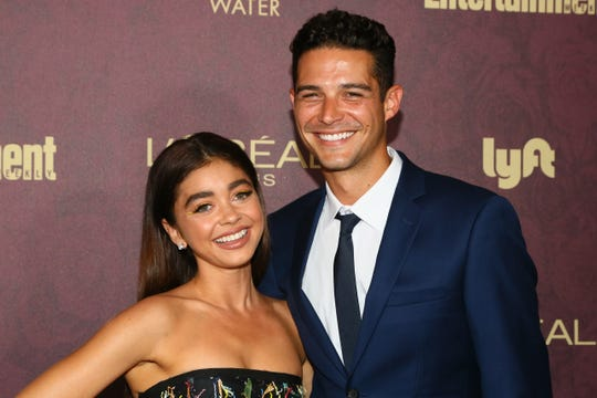 Actress Sarah Hyland and Wells Adams are engaged. The couple have been dating since 2017.