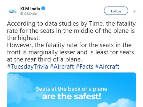 KLM apologizes over since-deleted post about airplane fatalities