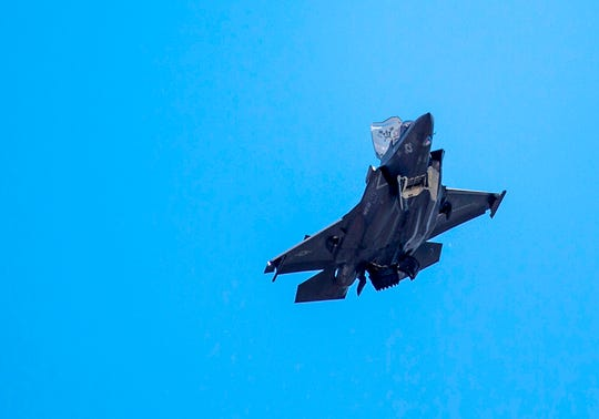 In this file photo taken on June 12, 2019 an F-35 fighter plane flies over the White House in Washington DC. - The White House confirmed on July 17, 2019, that Turkey would no longer be permitted to join in NATO's F-35 fighter program after it purchased a Russian missile defense system.