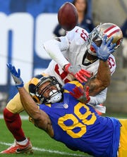 Rashard Robinson (33) was drafted by the 49ers in 2016, and went on to start 13 of 22 games for the team before being traded to the Jets.