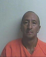 This mugshot from the Gilchrist County Sheriff's Office in Florida shows Alex Bonilla, 49, who allegedly cut off a man's penis after he slept with his wife.