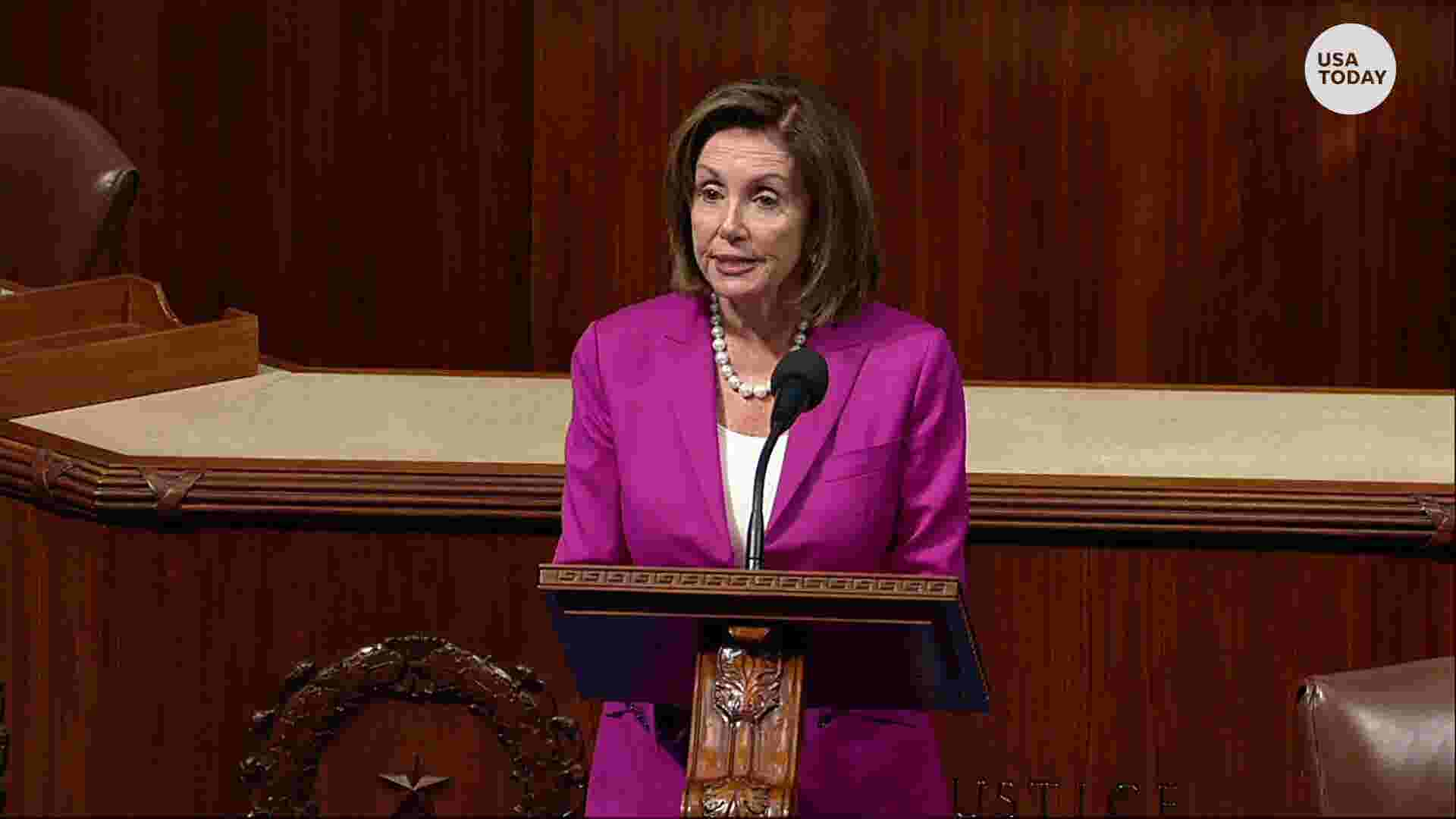 Report Feeds Debate Over Racial >> Nancy Pelosi Calls Out President Trump For Racist Comments On House Floor