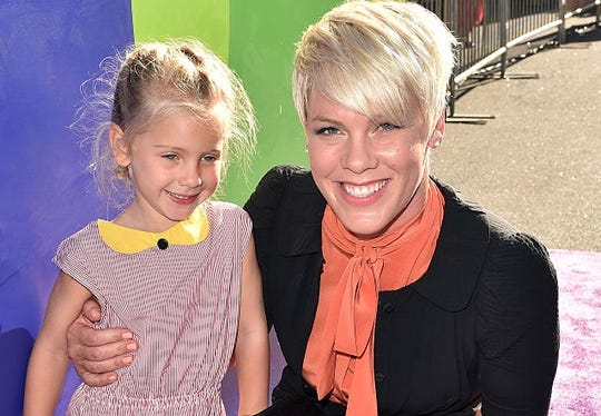 "Pink with daughter Willow at premiere  ""Inside Out."" The singer announced in July she's disabling Instagram comments after too many hurtful comments from followers, primarily about her parenting choices."