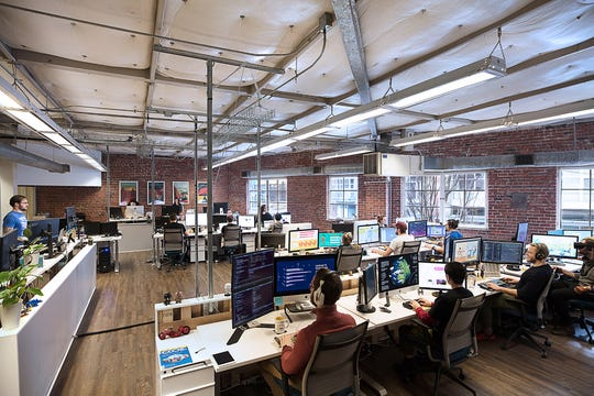 The work week at Killer Visual Strategies is four 10-hour days, with her 30 employees taking off either Friday or Monday.