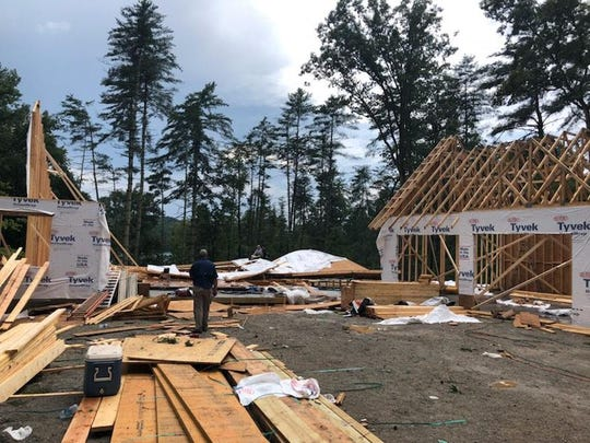 2 dead after house collapses in the Cliffs at Keowee Vineyards neighborhood in Pickens County, Thursday, July 18, 2019.