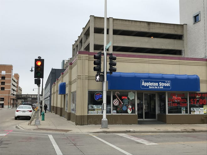 Appleton Street Sports Bar & Grill was torn down along with a city parking ramp. Its successor, the Meade Street Bistro on N. Meade Street, has not yet opened.