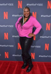 Kia Stevens attends the Netflix FYSEE Glow ATAS official red carpet and panel at Raleigh Studios on June 1 in Los Angeles.