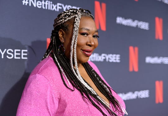 Kia Stevens attends the Netflix FYSEE Glow ATAS official red carpet and panel at Raleigh Studios on June 1, 2019 in Los Angeles.
