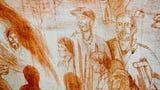 Artist Christopher Holt explains the Haywood Street Congregation fresco July 18, 2019.