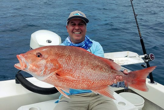 Johnny Anzalone enjoyed catching big sow red snapper while fishing the first weekend of the season with Capt. Alex Gorichky of Local Lines charters.