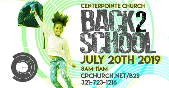 CenterPointe Church in Palm Bay will give away free backpacks and school supplies Saturday.