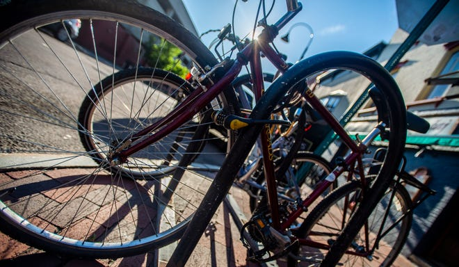 According to Project Coordinator Jonathan Weber from Local Motion, there's no perfect bike lock. But leaving your bike locked like this one seen on Bank Street in Burlington, VT, July 18, 2019, is a strong theft deterrent.