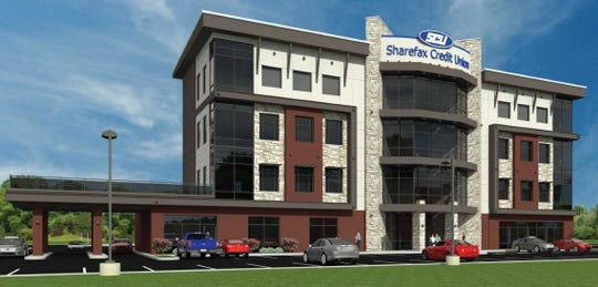Here's a rendering of the corporate headquarters and retail branch that the Sharefax Credit Union plans to build in Union Township.