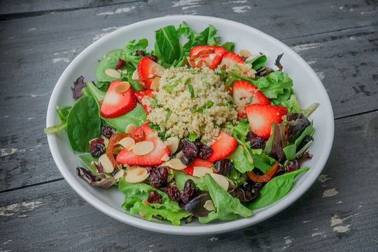 Strawberry Fields Quinoa Salad at the Chimney Rock Inn.