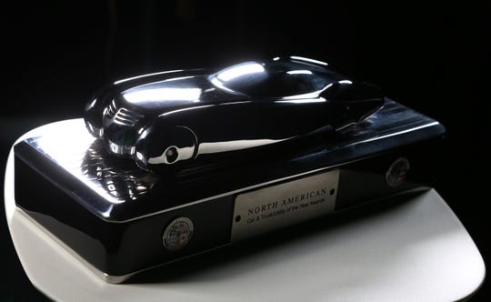 The North American Car, Truck and Utility of the Year Awards trophy was designed by Ed Welburn and manufactured by Don Sommer's American Arrow Corp.