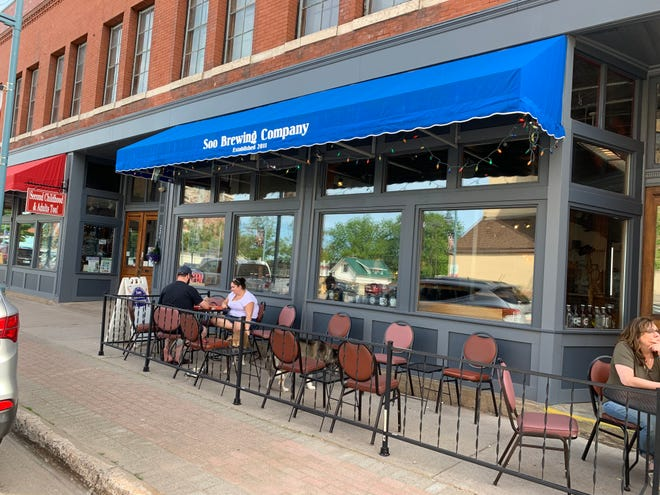 Soo Brewing Company in Sault Ste. Marie, Mich., featuring an outdoor patio.