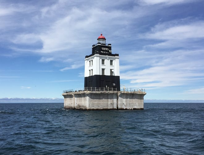 The Poe Reef Lighthouse in Lake Huron.
