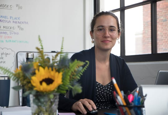 Nicole Choinski is the Pathway Program Director at TechTown in Detroit, Wednesday, July 16.