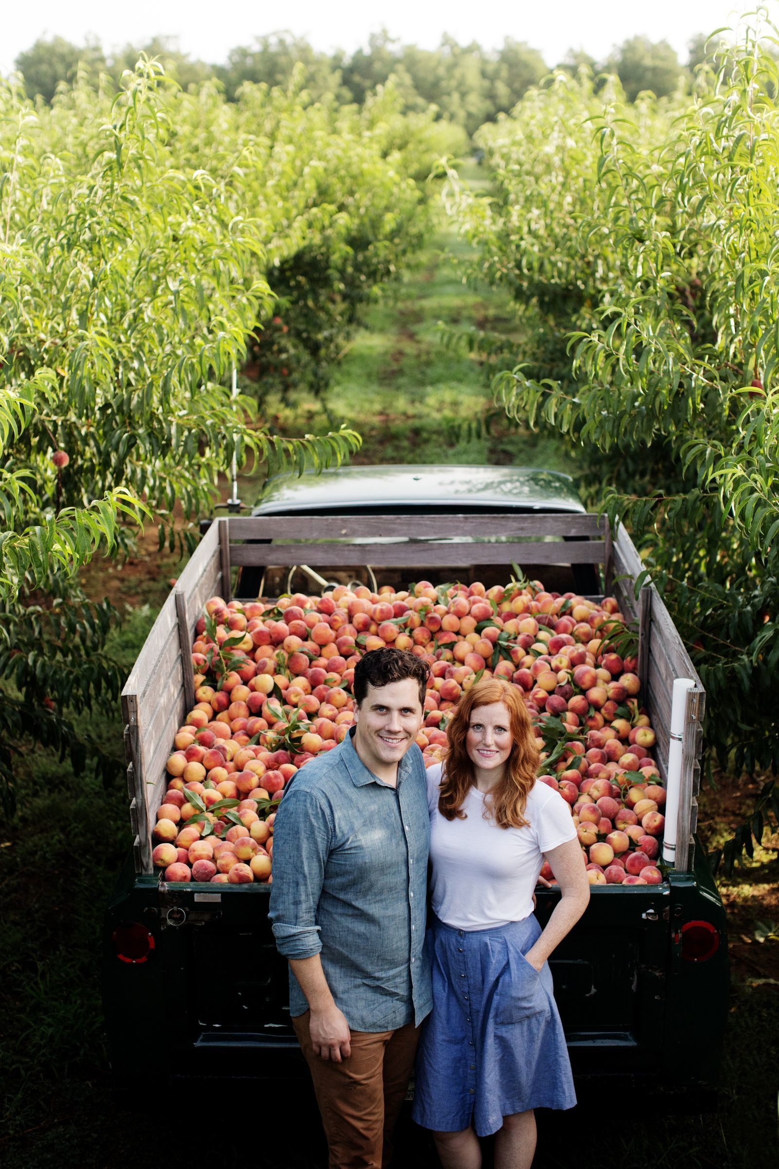 Stephen and Jessica Rose started the Peach Truck in Nashville. They truck in peaches from Georgia.