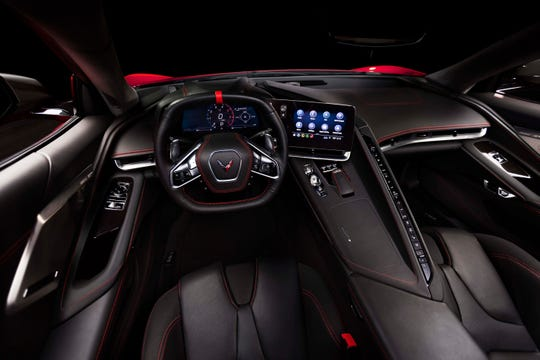 The 2020 Chevy Corvette Stingray is new from the ground up, including a standard leather interior with three seating options and launch control that GM says should give the car sub-3 second 0-60 runs.