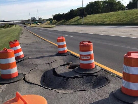 Macomb County officials said work has started to repair sinkhole that appeared on Mound Road near Interstate 696 in Warren.