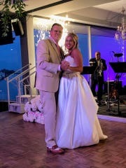 Newlyweds Christopher Allen and Mary Kay Schoenith Allen
