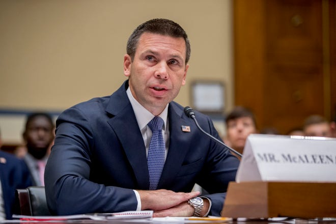 Acting Secretary of Homeland Security Kevin McAleenan speaks at a House Committee on Oversight and Reform hearing on Capitol Hill in Washington, Thursday, July 18, 2019.