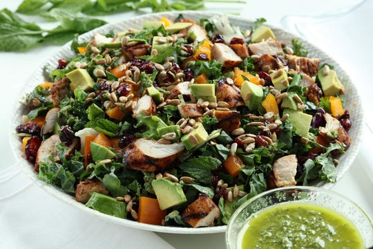 Perk up your summer with this minty grilled chicken salad. (E. Jason Wambsgans/Chicago Tribune/TNS)