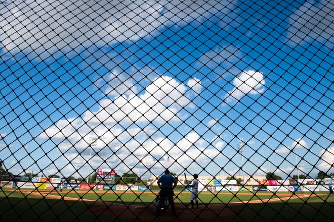 Netting behind home plate as the Evansville Otters play the Joliet Slammers at Bosse Field Wednesday, July 17, 2019.