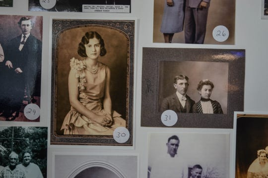 These old family photos are part of one of the several displays that will be available for viewing at the upcoming Longanbach Family Reunion.