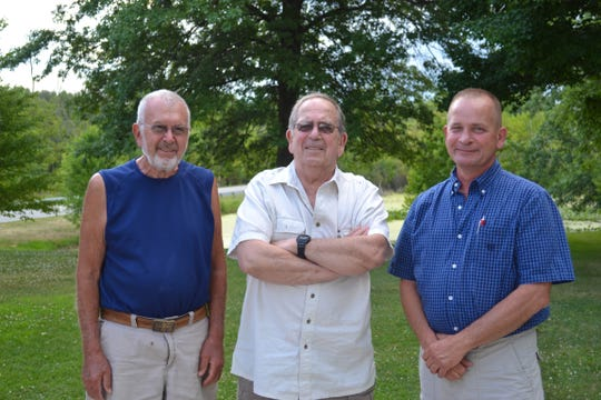 Samuel Otermat, Steven Longanbach and Michael Loganbach, from left, are currently planning the 100th Martin Loganbach Family Reunion. The event in August will include historical displays and history tours of local family landmarks.
