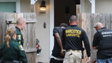 Seven people were detained, and three were arrested during search warrant at home where fentanyl was found