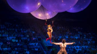 Cirque du Soleil's Corteo is a whimsical interpretation of the celebration of the life of a clown. The show runs through July 21, at Hertz Arena.