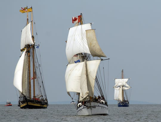 Tall ships sail into the Port of Green Bay for the first Tall Ships festival in 2006. Nicolet Bank Tall Ships July 26-28 will be the fifth such event in Green Bay.