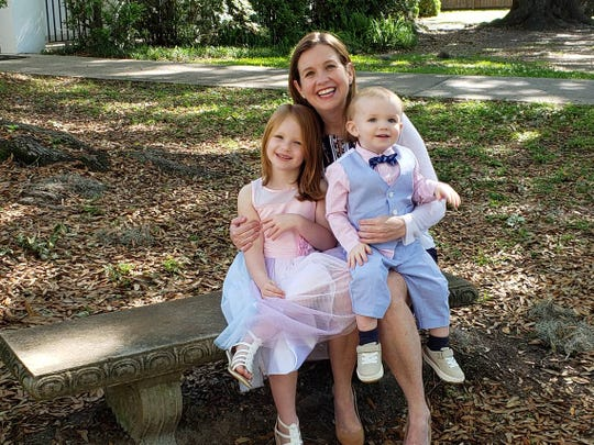Erin Holley with her two children, 6-year-old Teagan and 2-year-old Finn.