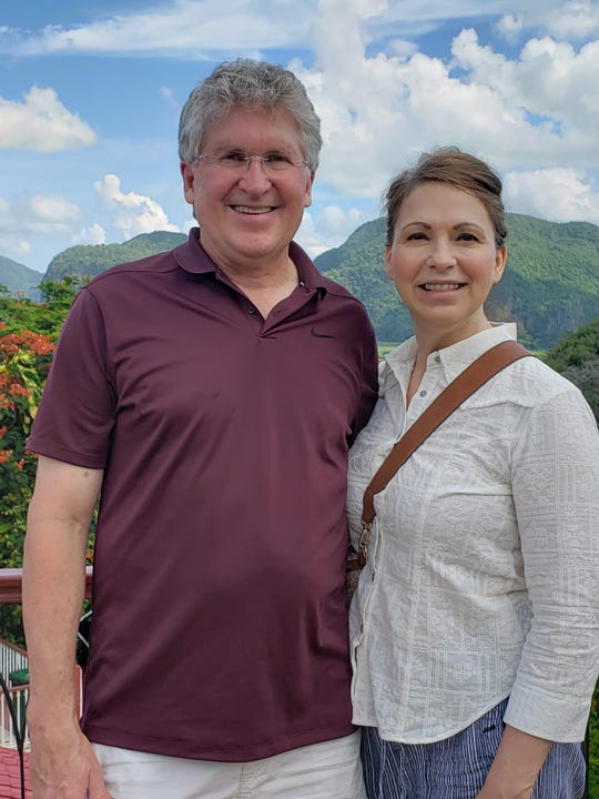 Jessica L. Karjala and husband Jon Kosovich at Vinales in Cuba.