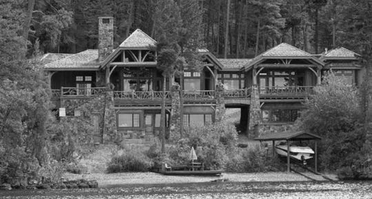 Former Montana Power Co. CEO Bob Gannon had this Flathead Lake mansion on Finley Point north of Polson in 2003.