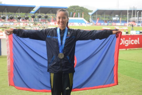 Genina Criss wins silver in women's 1500-meter run in the Pacific Games on July 18, 2019.