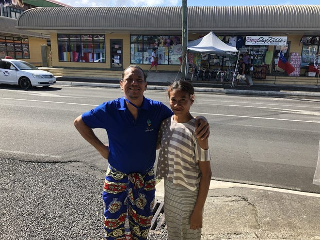 PDN reporter Jojo Santo Tomas wears traditional Samoan clothing, the lavalava, and recounts the multiple layers he placed underneath.