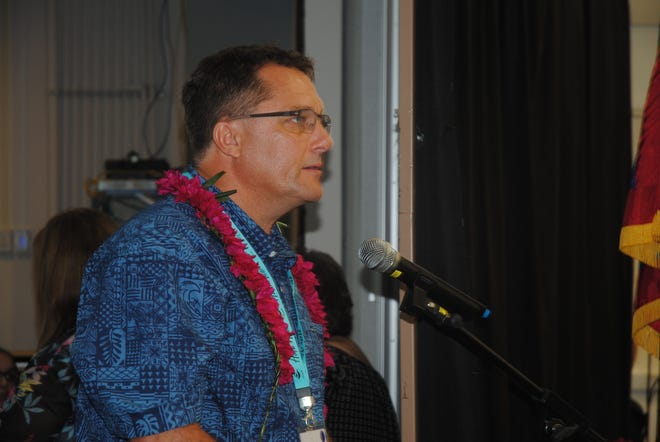 Dr. Scott Masters of the VA Pacific Islands Health Care System at Guam Community College Thursday