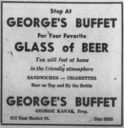 George's Buffet bout this advertisement in the January 29, 1947 Press-Citizen.