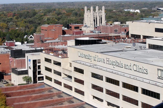 Boyd Tower is seen from the 12th floor of the University of Iowa Children's Hospital on Thursday, Oct. 15, 2015.
