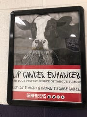 A photo of a poster hanged by SkoolAds in a DeSoto County school.