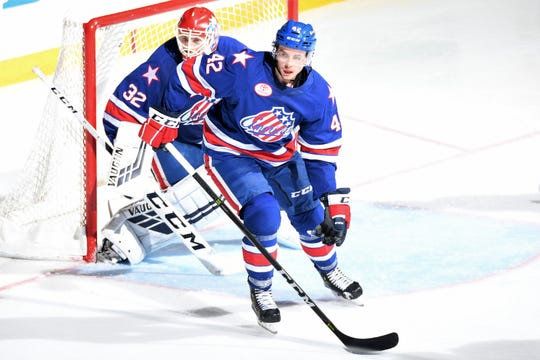 Brighton's Kurt Gosselin played eight regular-season games and three playoff games with the Rochester Americans of the American Hockey League last season.