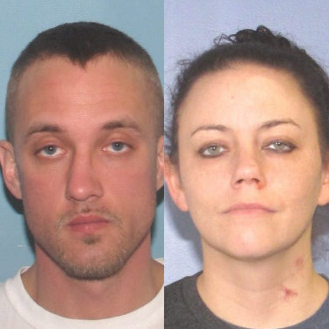 Ryan Williams and Falynn Phillips are being sought by police in connection to a woman who was found dead Monday.