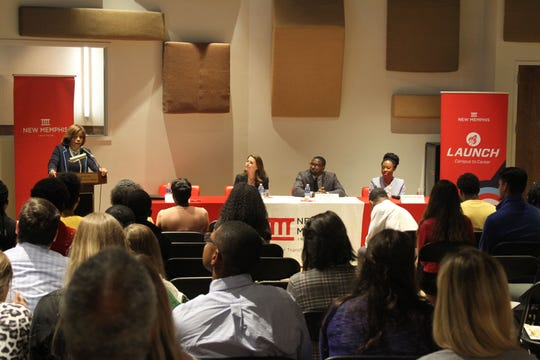 Launch at New Memphis hosts a discussion panel for interns in Summer Experience, a series of free networking events. Launch helped college students find internships in Memphis, and gave companies a platform to display their internships.