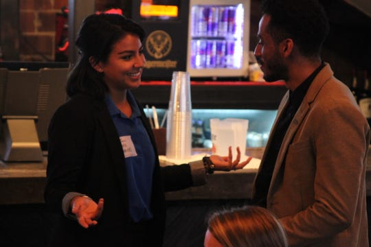 Andrea Hernandez, left, at New Memphis Institute Summer Experience intern event.
