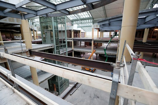 Work is underway on The Avenue, formerly the Grand Avenue mall, 275 W. Wisconsin Ave., on Thursday. The lower level will be the 3rd Street Market Hall food hall while the upper levels will be the future site of Graef, an engineering firm. The rest is being redeveloped into offices.