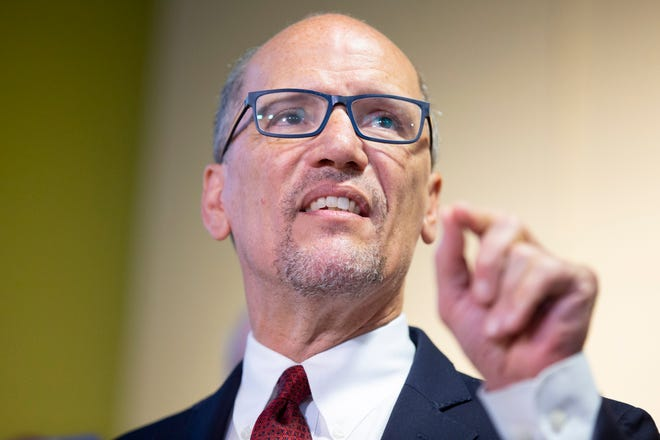 """Democratic National Committee Chair Tom Perez says the Alabama Democratic Party has """"fallen far short"""" of basic obligations to develop strategy and infrastructure and has chronically underperformed in almost every aspect of operation."""