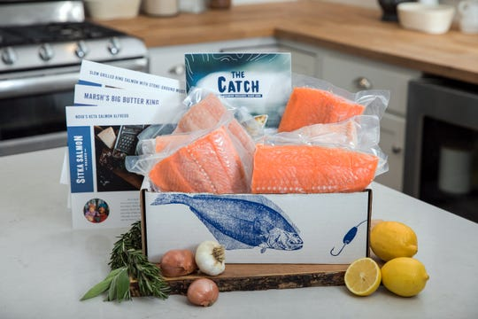 Sitka Salmon Shares delivers a package of frozen Alaskan seafood to your kitchen every month.